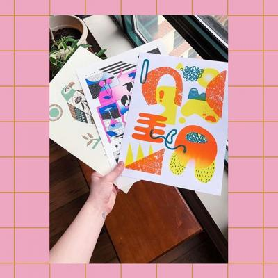@ruby.bluu received her #MakeWithMohawk Superfine + Riso Print Set. Have you gotten yours?  #Riso #Risograph #RisoPrint #Paper #Print #Design #GraphicDesign #Illustration #ArtPrint #MohawkPaper