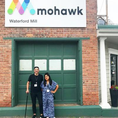 Starting off the week with our friends @agibbsdesign and @jessicadeseo...AND a mill tour? Don't mind if we do! It was a real pleasure having them stop by.  #Paper #PaperMaking #MohawkPaper #PaperMill